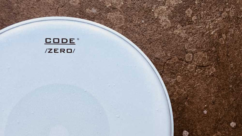 """CODE 14 """" Inch DNA Clear Tom Head Drum Skin single ply also reso side"""